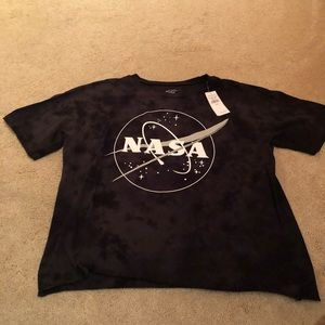 American Eagle Black NASA T-shirt